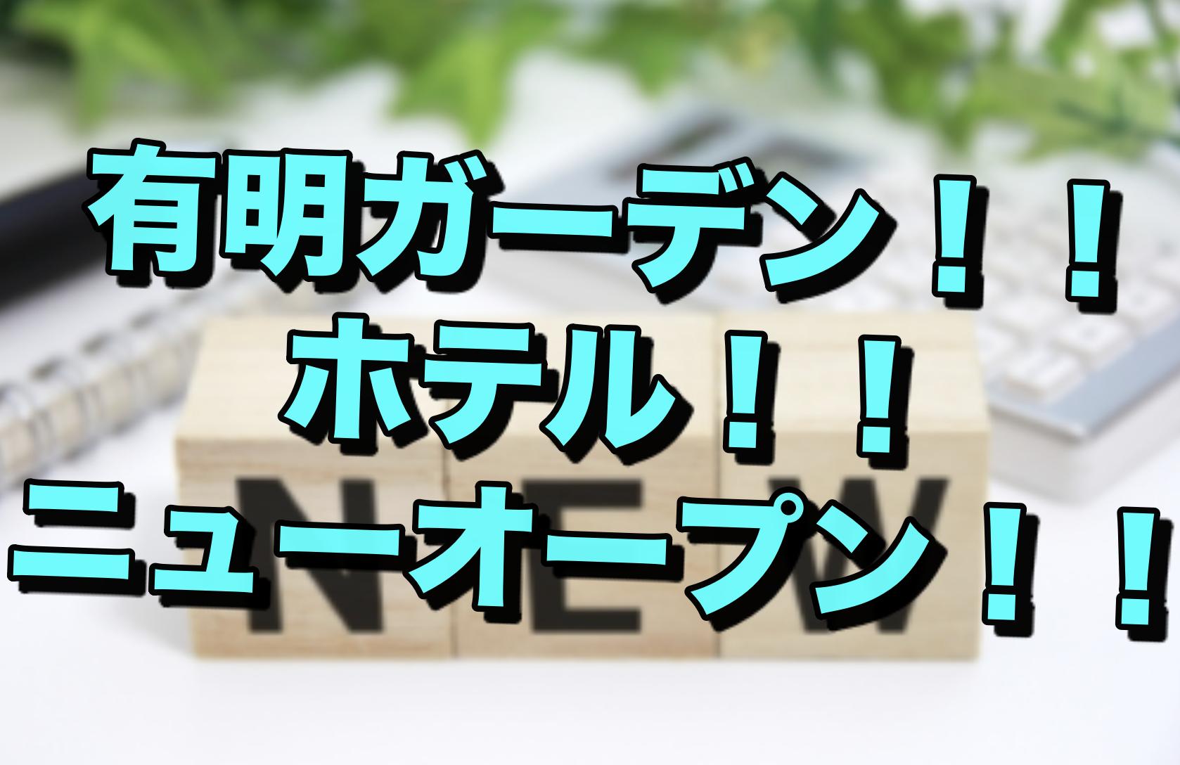 【癒し】ニューオープン!ヴィラフォンテーヌグランド東京有明!